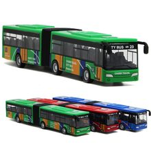 18cm Children's Metal Diecast Model Vehicle Shuttle Bus Cars Toys Small Baby Pull Back Toy Gift for kids(China)