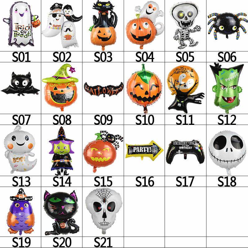 Halloween Pompoen Ghost Decor Folie Ballonnen Spider Helium Ballonnen Opblaasbare Speelgoed voor kinderen Bat Globos Halloween Party Benodigdheden