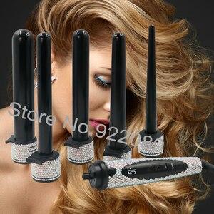 Image 2 - クリスタルヘアホットツールケバケバクリスタルヘアストレートダイヤモンドカーリングワンドキットクリスタルヘアブロードライヤー髪ブティック