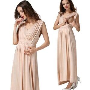 Image 5 - Женские длинные летние праздничные вечерние платья Emotion Mommy платья для беременных и кормящих матерей