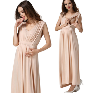 Image 5 - Vestidos de Noche largos de verano para mujeres embarazadas, vestidos de maternidad para lactancia materna