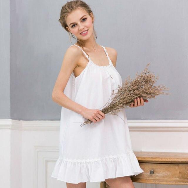 14e8c8527 Sleepwear Women Summer Cotton Nightgowns Gecelik Homewear For Women Lace  Chemise De Nuit Nightdress Vestido De