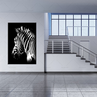 HD Print Abstract Black and White Zebra Oil Painting on Canvas Modern Wall Art Animal Picture Poster For Living Room Cuadros