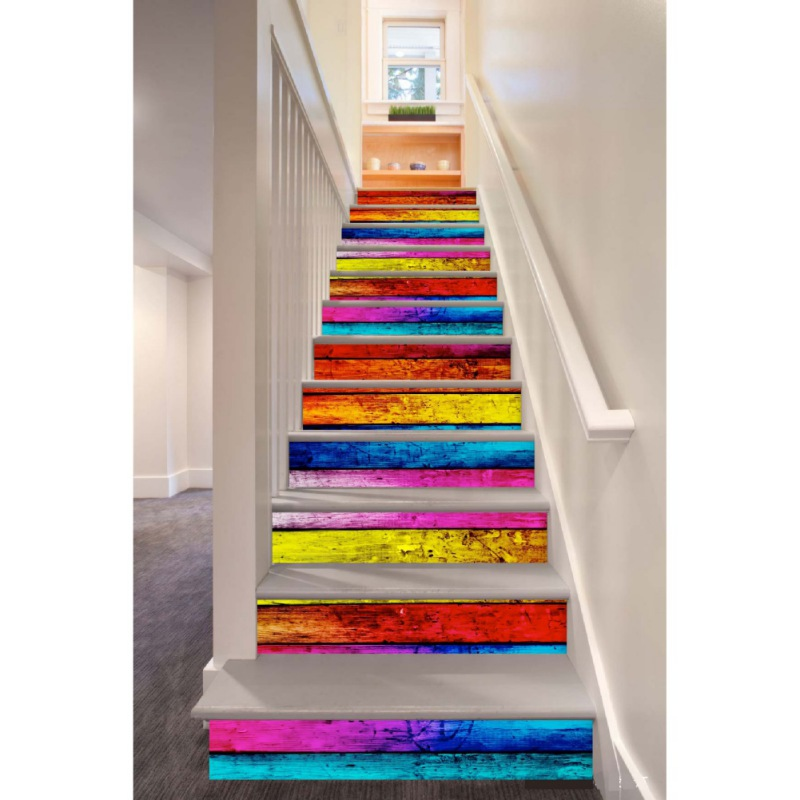 New 3D Sticker Self-adhesive Staircases Sticker For Stairway DIY Removable Decoration Hallway Step Floor PVC Decal Paper Diy 3d rock sea floor sticker