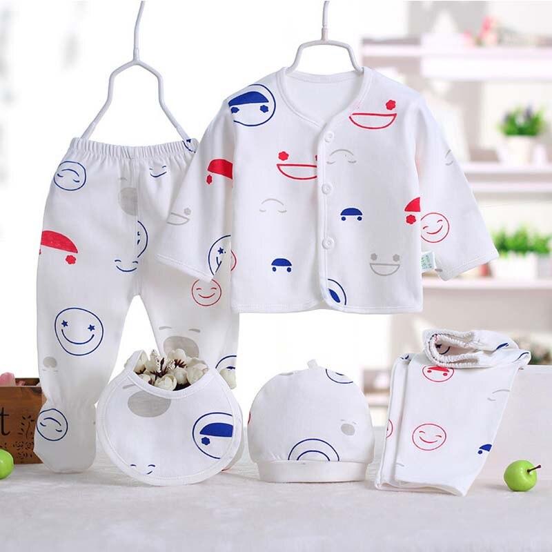 abb3df813593 5pcs set Newborn Baby Sets Infant Clothing New Born Baby Clothes ...