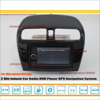 For Mitsubishi Attrage / Space Star 2012 ~ 2014 - Car Radio reo CD DVD Player GPS NAVI / HD Touch Audio Video S100 host system