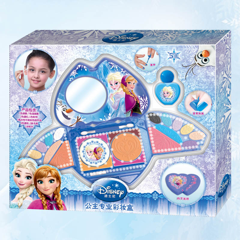 Princess professional washable makeup set children mirror Disney Pretend Play Fashion toys girls Birthday party gift