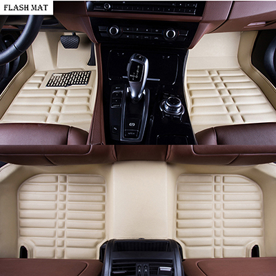 Custom car Floor mats for Citroen c5 2010-2018 Citroen ds5 c4 Grand Picasso Auto Accessories car mats Gray Interior Accessories Floor Mats