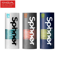 TENGA SPINNER Male Masturbator Cup Vagina Real Pussy Reusable Spiral Silicone Sex Aircraft Cup Sex Toys For Men Masturbation cup