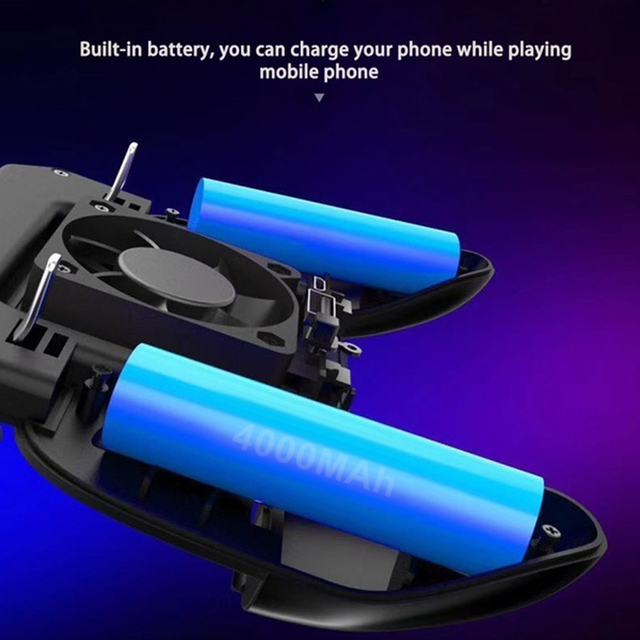 NEW SR2 The Five Generation Mobile Game pubg Controller Shooter Trigger Cooling Fan Mobile Power Game Handle 3 in 1 joystick