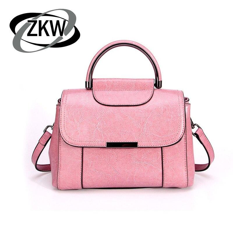 ZKW  Fashion Genuine Leather Women Handbag 2019 Female Mini  Portable Bag Single Shoulder Bags  Package