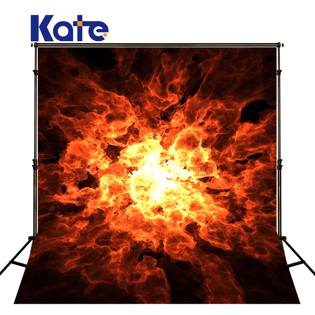 KATE Photography Backdrops Cosplay Party Background Fire Photography Backdrops Halloween Backdrop Vintage Photograph for Studio