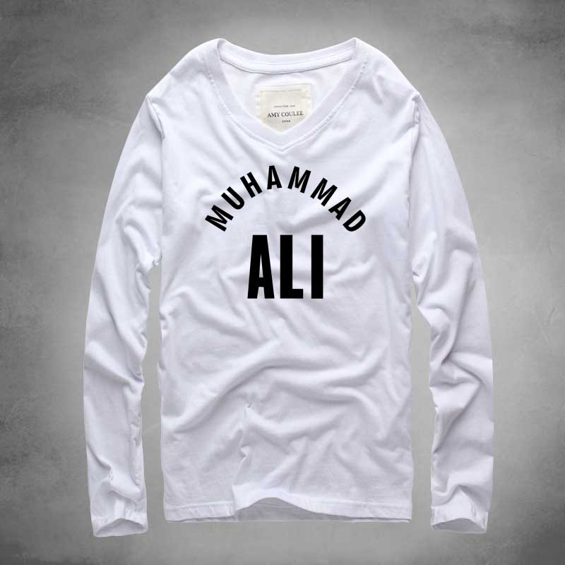 new brand muhammad ali t shirt hip hop cotton t shirt