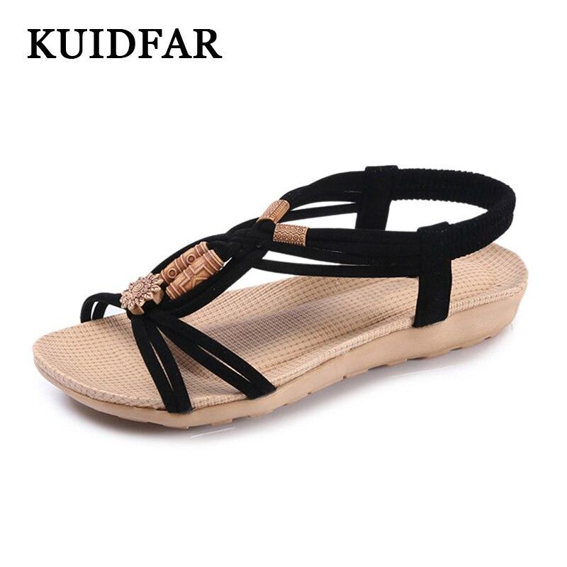 Women Sandals 2019 Summer  Comfortable Ladies Shoes Beach Gladiator Sandal Women Casual Female Flat Sandals Bohemia flat sandals for girls
