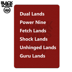 One of Each Beta/ Unlimited/ Revised Dual Lands & Beta / Unlimited Power Nine Magicalal Playing Cards Lion Board Game Cards