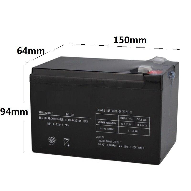 12 V 7.2AH scellé batterie de stockage plomb-acide Rechargeable accumulateur remplacement enfants jouet voiture bébé transporteur sauvegarde 12V7AH 7AH