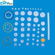 цены 60 Kinds Rack Pinion Gear Bag DIY Kit Plastic Worm Gear Reducer Set for Arduino Robot