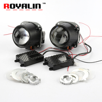ROYALIN Bi LED Projector Lens 2.5 3.0 inch Mini Head Light 12V Brightness for H1 H4 H7 Car Styling Hi/Lo Beam Universal Retrofit
