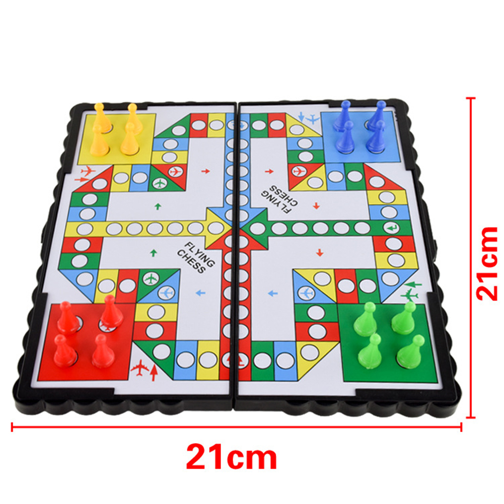 HTB12EF6a4D1gK0jSZFyq6AiOVXaL Mini Magnetic Foldable Flying Chess Crawling Mat Ludo Portable Board Game Camping Travel Game Set Fast Dispatch 21*21*2cm