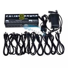 Caline CP 05 efekt pedałowy zasilanie wysokiej częstotliwości 10 wyjść (9V, 12V, 18V) ochrona napięcia pedał gitary moc
