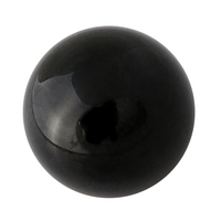 Asian Rare Natural Mineral Black Obsidian Sphere Large Crystal Ball Healing Stone Home Decor 45 50mm