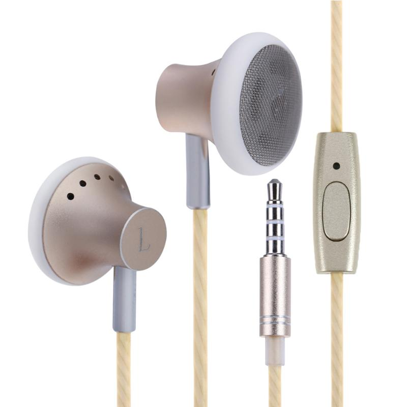 Universal Wired Smartphone Earphone Stereo In Ear Common Cheap Small Earpiece Headset with Microphone for Phone MP3 Computer mobaks hxt 2045 novel zipper style universal 3 5mm jack wired in ear headset w microphone blue