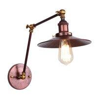 Industrielle Vintage FÜHRTE Wand Licht Rost Eisen Lange Arm Einstellen Nacht Wand Lampe Loft Edison Wand Leuchte Beleuchtung Lampara Pared-in LED-Innenwandleuchten aus Licht & Beleuchtung bei