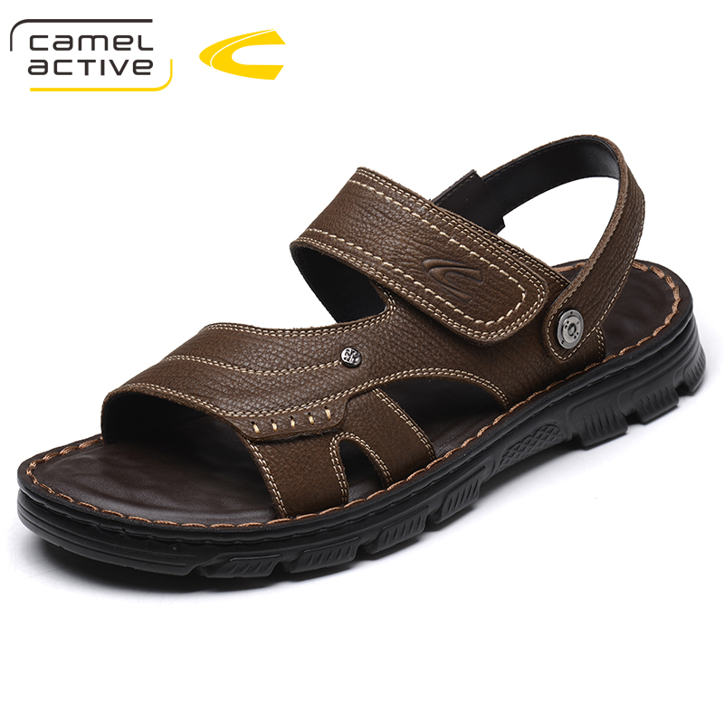 Camel Active Brand Genuine Leather Shoes Summer New Large Size 44 Mens Sandals Men Sandals Fashion Sandals And Slippers 18065