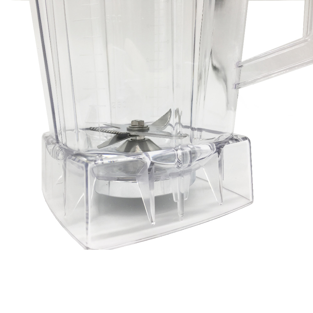 commercial Blender spare parts BPA FREE 2L Square Container Jar Jug Pitcher Cup bottom with serrated smoothies blades lid (5)