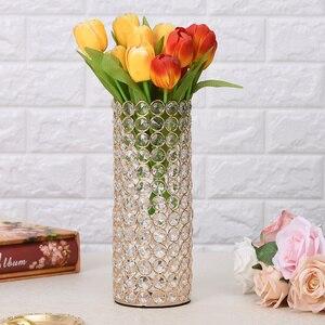 Image 3 - คริสตัลแก้วแจกันเทียนสำหรับงานแต่งงาน Centerpieces ตกแต่ง Handmade