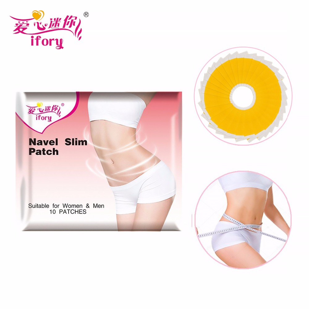 30 Patches=3 Bags Ifory Efficient Slimming Navel Sticker Weight Lose Patch Burning Fat Patch Hot Body Shaping Slimming Sticker