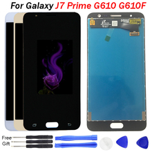 For SAMSUNG GALAXY J7 Prime LCD Display G610 G610F G610M Touch Screen Digitizer Replacement For 5.5 SAMSUNG J7 Prime Display чехол для samsung galaxy j7 prime sm g610f ds skinbox 4people slim silicone прозрачный