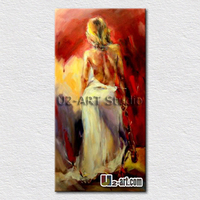 Thick textured nude women canvas art painting beautiful wall pictures oil painting for bedroom wall decoration 50cmx100cm