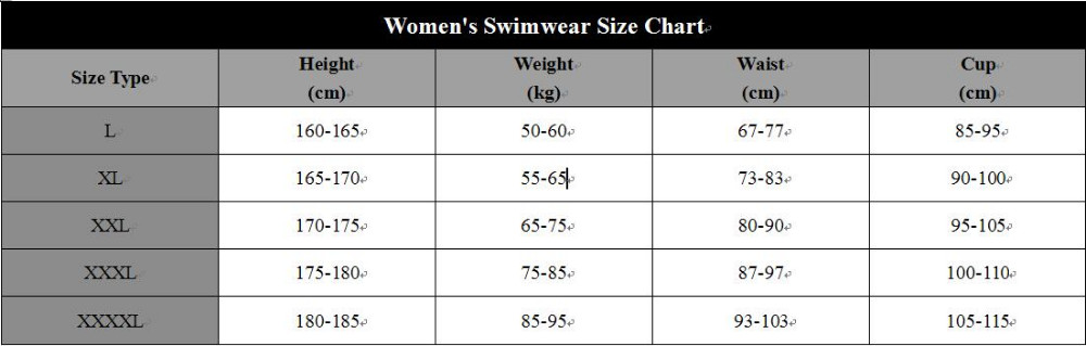 Size Chart for plus size
