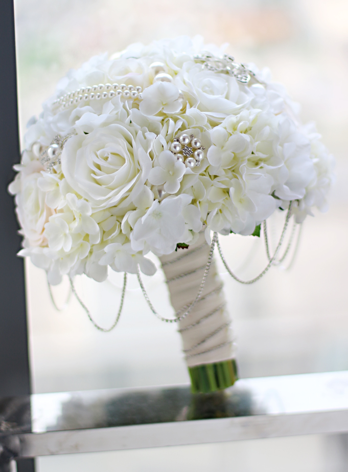 How To Make A Wedding Bouquet With Artificial Flowers.New Ivory Coral Wedding Bridal Bouquet Brooch Bouquet Bridesmaid