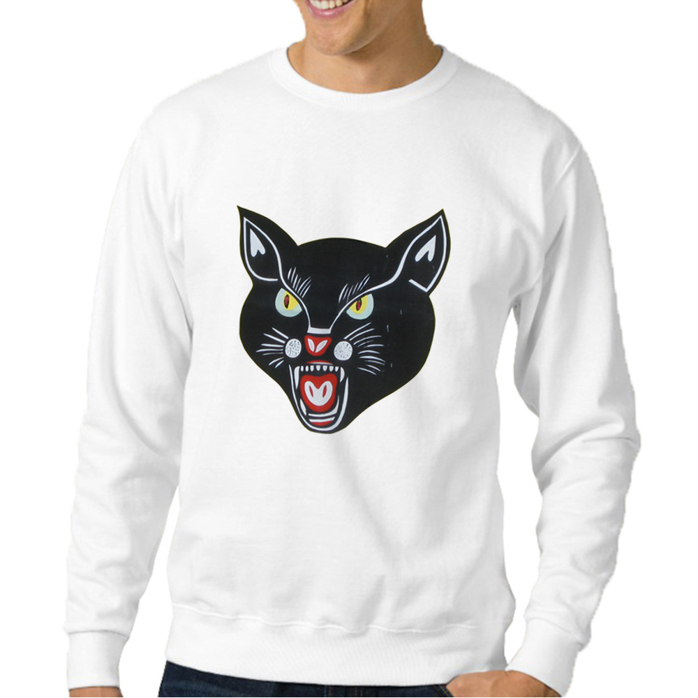 Black Cat Printed Sweatshirts Top Brands Korean Oversized Sweatshirt Animal Mens Tracksuit Gothic Men Clothing Hipster Pullover
