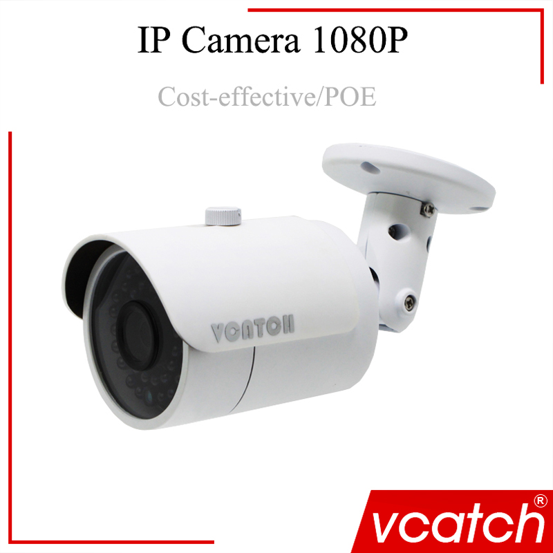Vcatch Bullet Camera POE HD Audio Network Cameras NEW LED FULL 1080P POE IP camera H.264 CCTV Security Monitor bullet camera tube camera headset holder with varied size in diameter