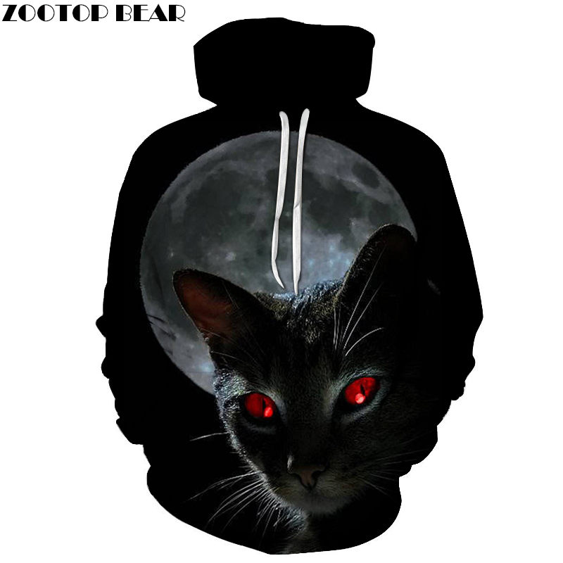 Red Eye Cat 3D Print Hoodies Men Women Sweatshirt Hooded Tracksuits Fashion Pullover 6XL Hoody Streetwear Spring Coat Drop Ship