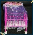 Одна кровать Сладкий Детские Кроватки Для Барби Девочки, Мебель куклы Келли Куклы Детская Кровать Кукла Аксессуары 12 см * 6 см * 17 см