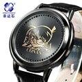 Detective Conan reloj Xingyunshi Relojes Deportivos Hombres Cuero Marca de Lujo Militar Reloj de Hombre Digital de Pulsera Relogio masculino