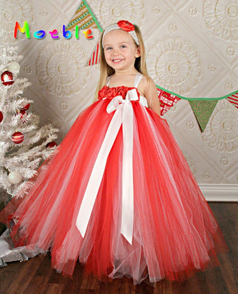 red rose flowers girls valentine's day tutu dress little