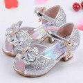2017 verano sandalias de la princesa ropa de los niños niñas zapatos de novia de tacones altos zapatos de vestir zapatos de las niñas rosa azul oro