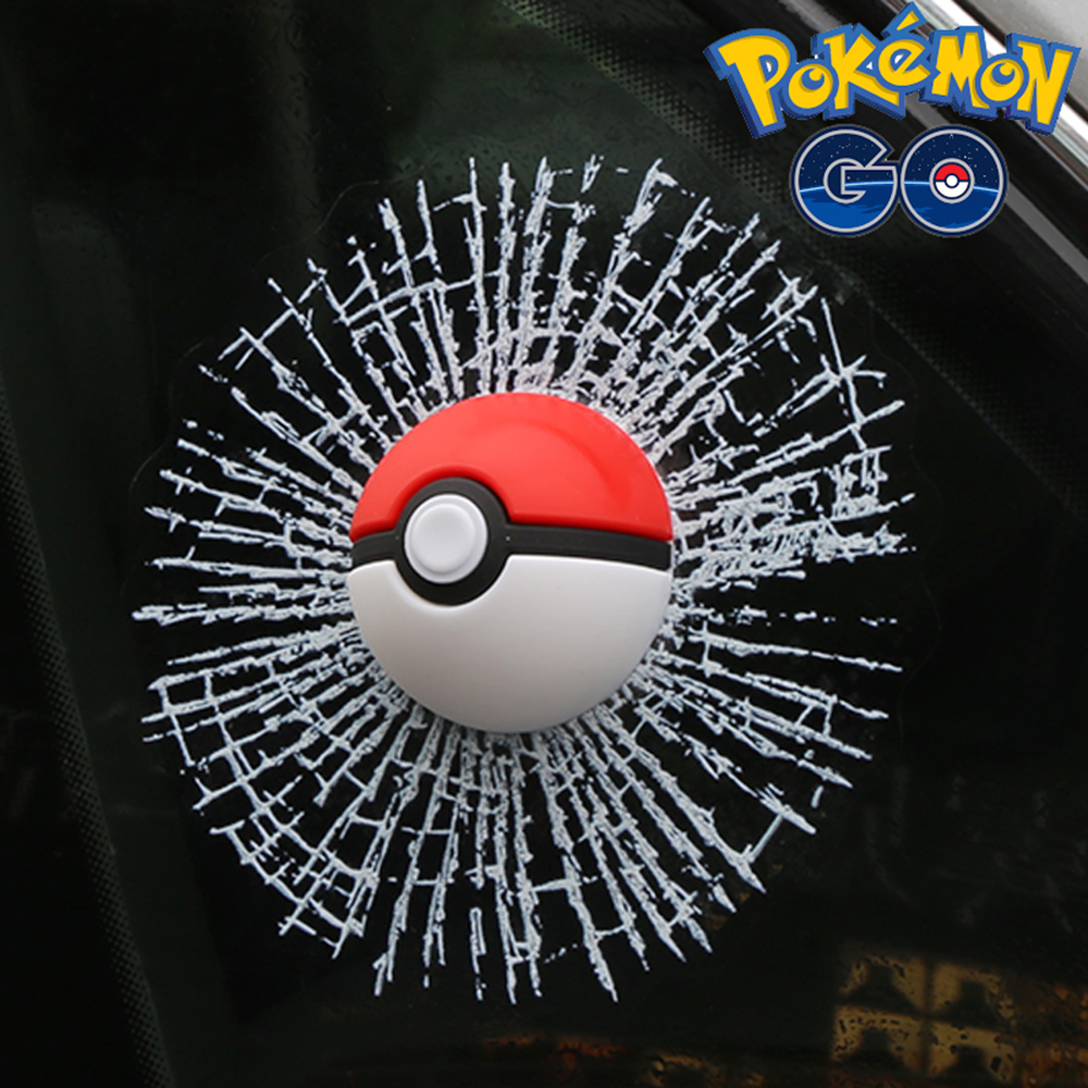 Pokemon Go Funny 3D Car Sticker and Decal Motorcycle Accessories Pokeball Hit The Window Decoration for Bmw Audi Vw Polo Golf car window curtains legal