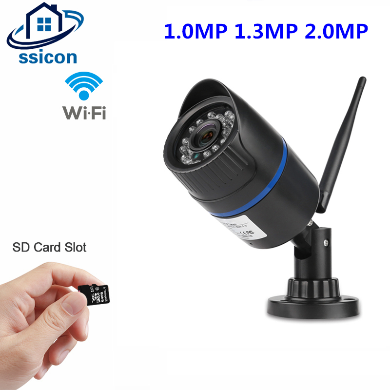 SSICON Bullet Outdoor Camera WiFi ONVIF IP Camera HD 1080P 960P 720P Wireless Wired Security Camera Support 64G SD Card