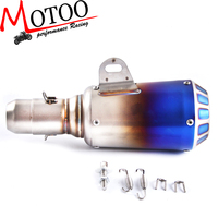 Motoo Universal Motorcycle MUFFLER SLIP ON EXHAUST with stickers with color