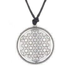 Dropshipping Supernatural Knot Male Flower of Life Necklace Men Pendant Egyptian Jewelry Tai Chi Mandala Women Collar