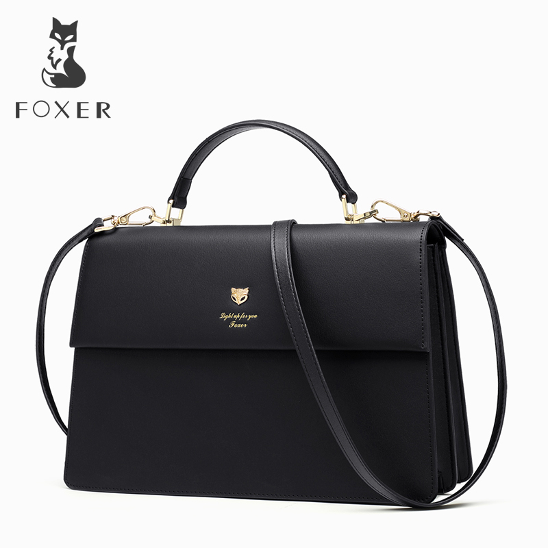 FOXER Brand Women Temperament Crossbody Bags & Shoulder Bag Female Solid High Quality Messenger Bag for Lady сковорода berghoff eclipse 20см серый