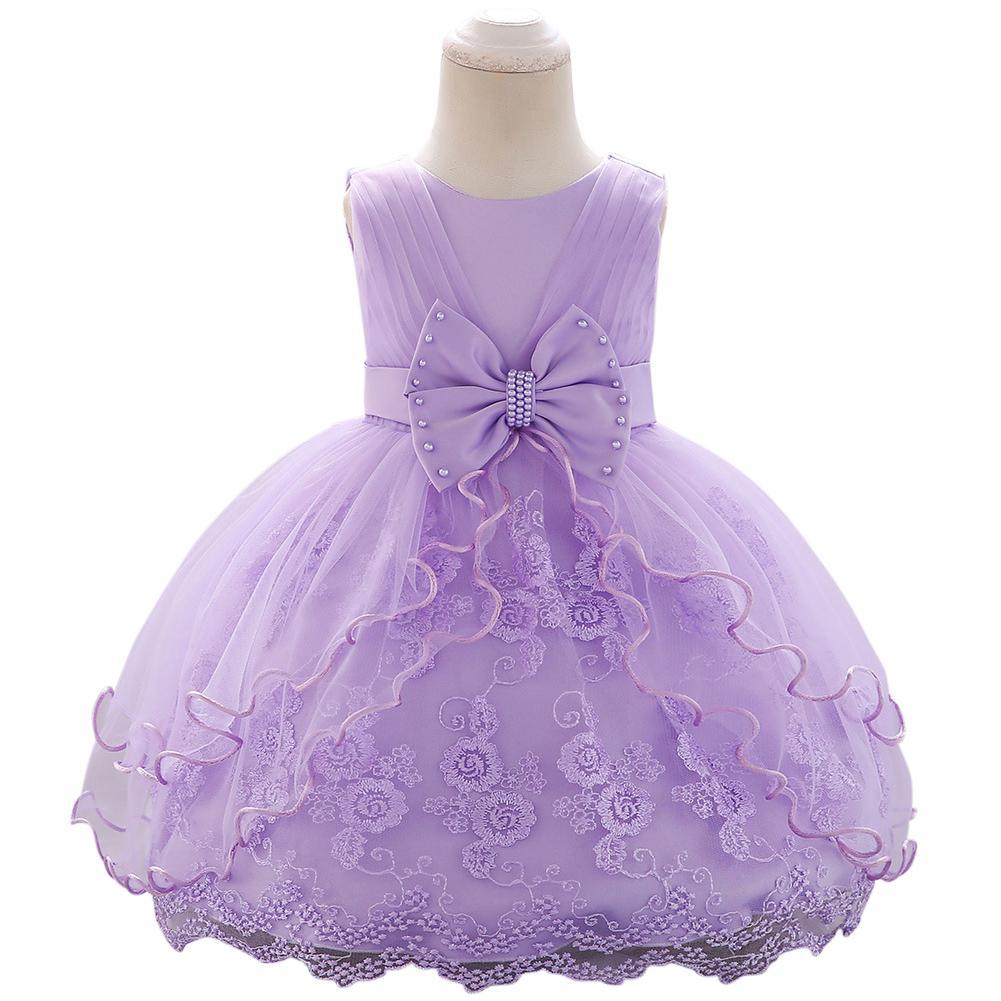 TPFOCUS 2019 nouveau modèle filles robe fille enfants robes pour filles robe Bowknot mariage brodé bulle princesse robe