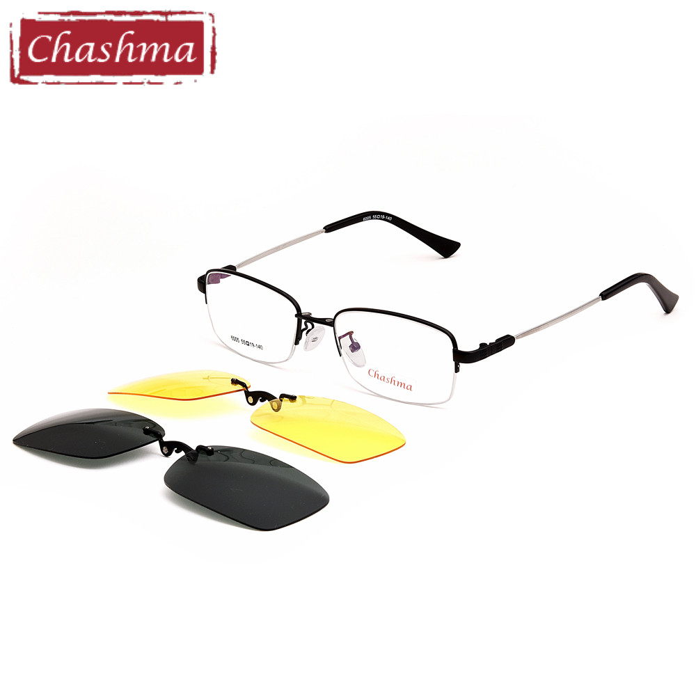 24ada3669e Chashma Brand Quality Glasses Frame Alloy Frame Polarized Clips Driving  Fishing Sunglasses Men Wide Field Lens Magnet Clips -in Eyewear Frames from  Men s ...