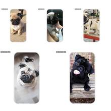 EJGROUP Novo Filhote de Cachorro Pug Dog TPU Caso Coque Para Samsung Galaxy A3 A5 A7 J1 J2 J3 J5 J7 2015 2016 2017(China)